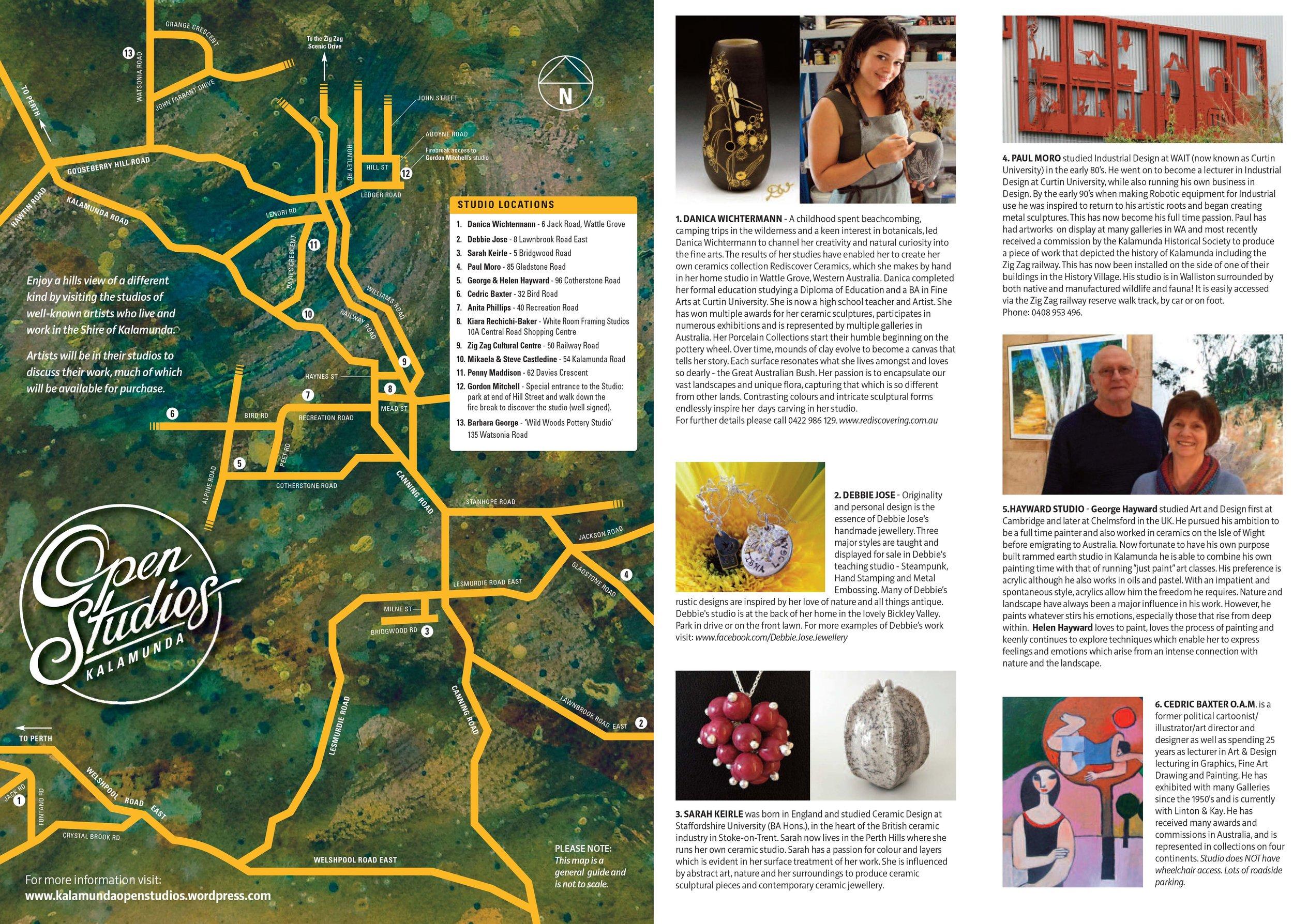 Kalamunda Open Studios Map