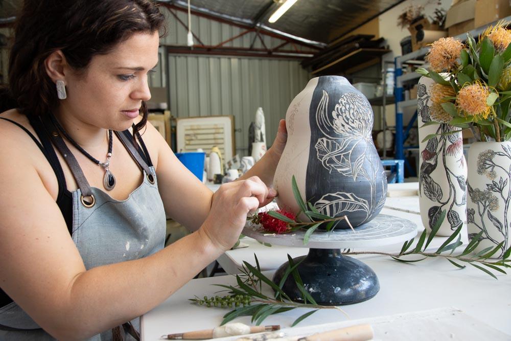 Danica Wichtermann in the Studio