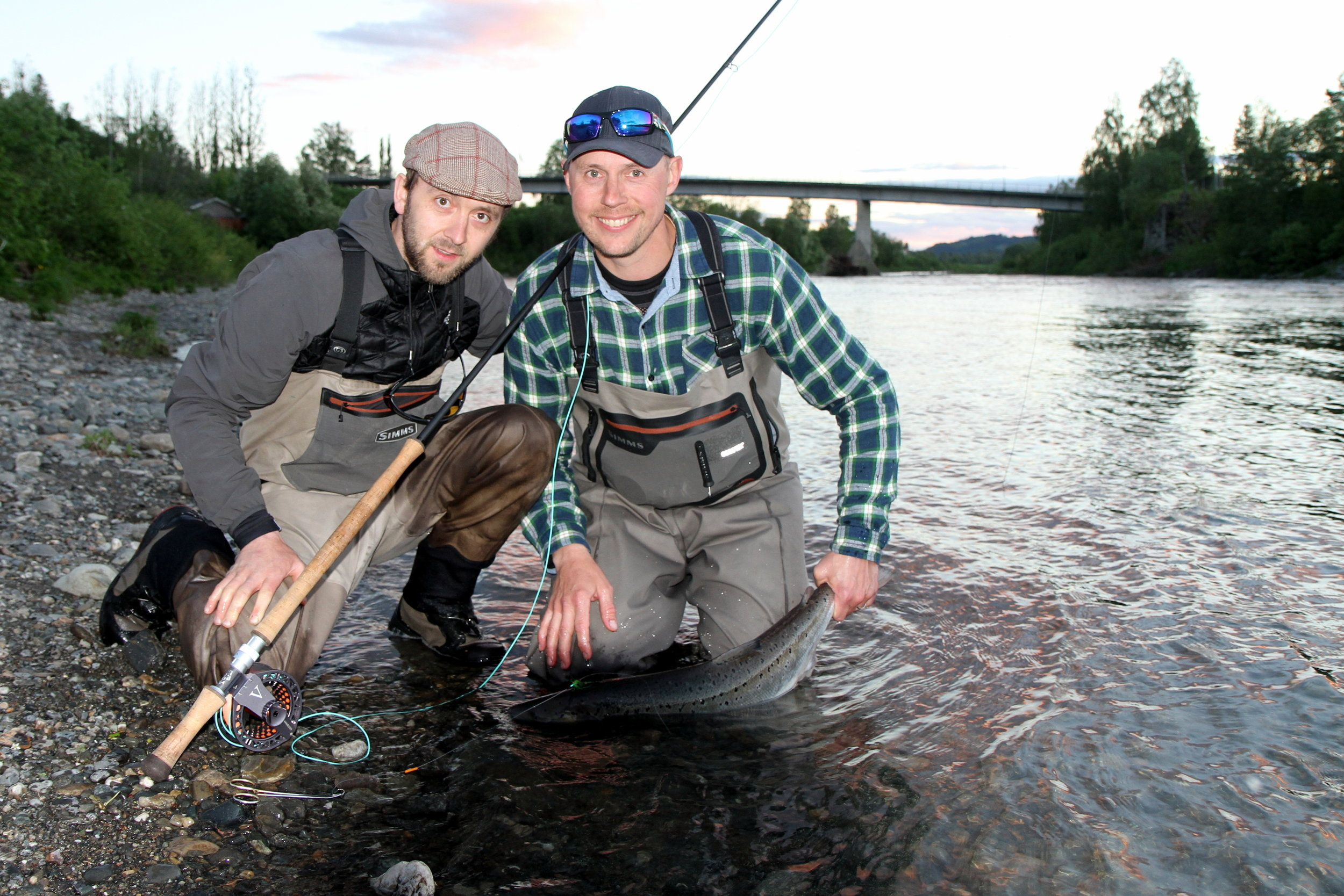 Personal records for Stuart, three times on his first salmon expedition in Norway and the Stjørdal river.