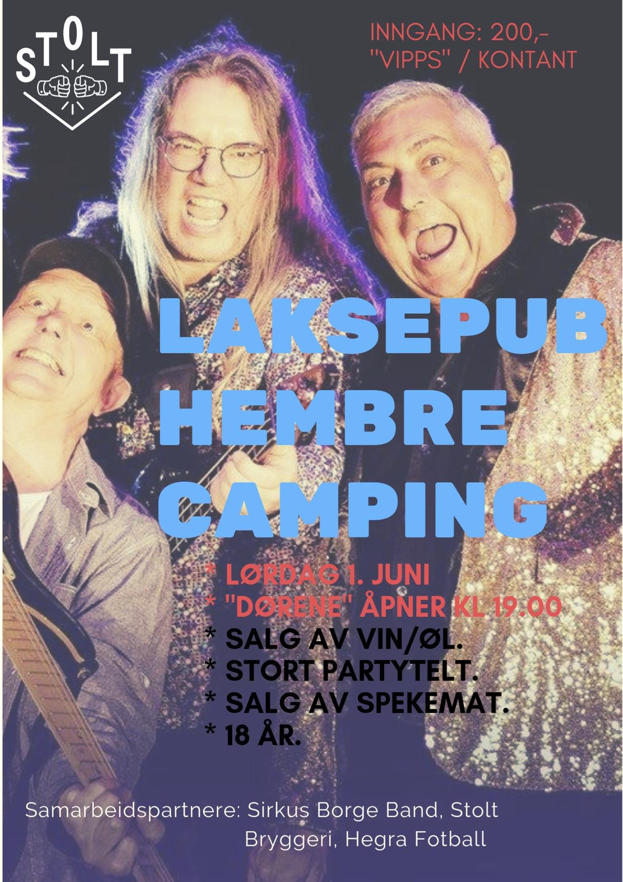 Plakat: Hembre Camping