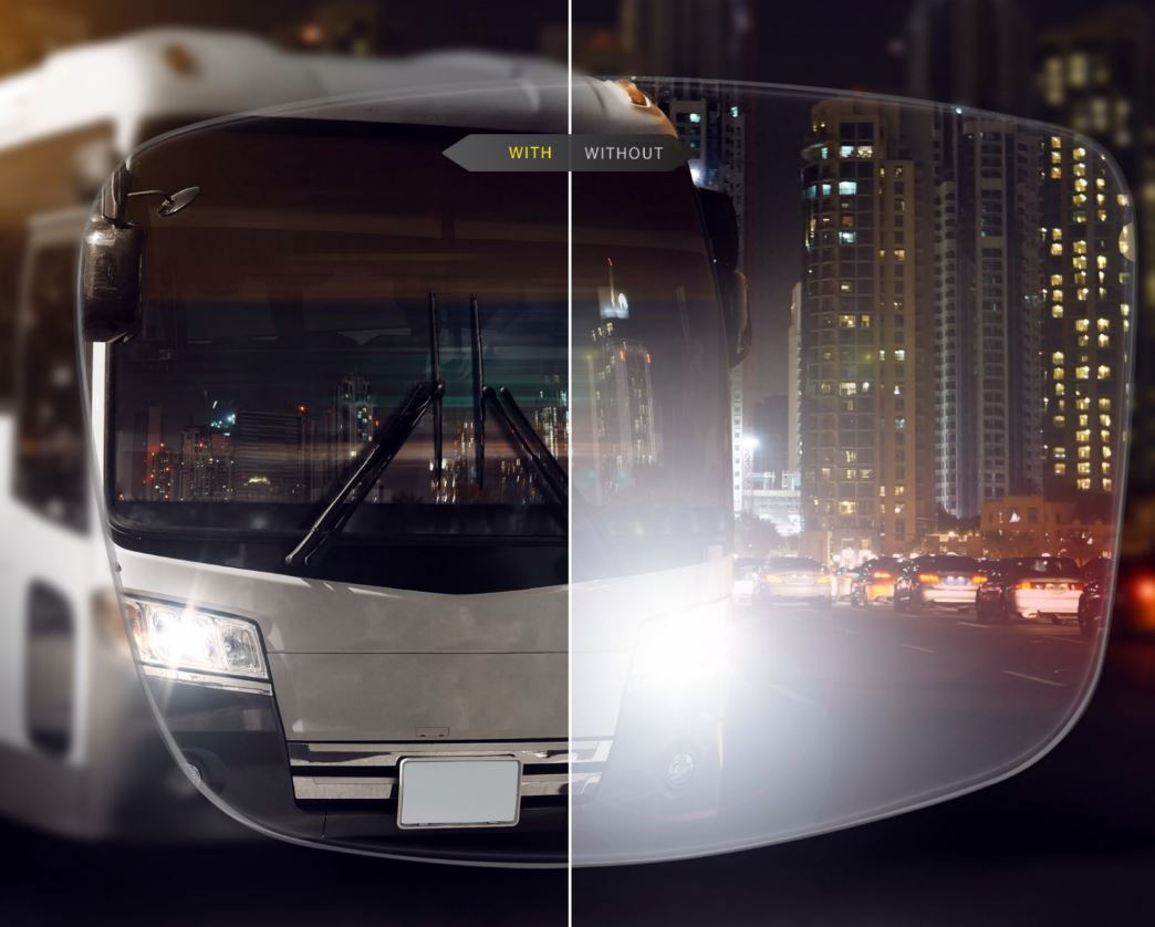 Anti-Reflective Coating for Night Driving