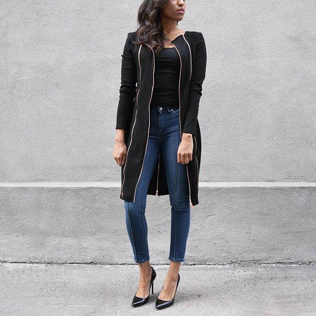 Zipper Jacket Dress🖤/www.houseoflva.com