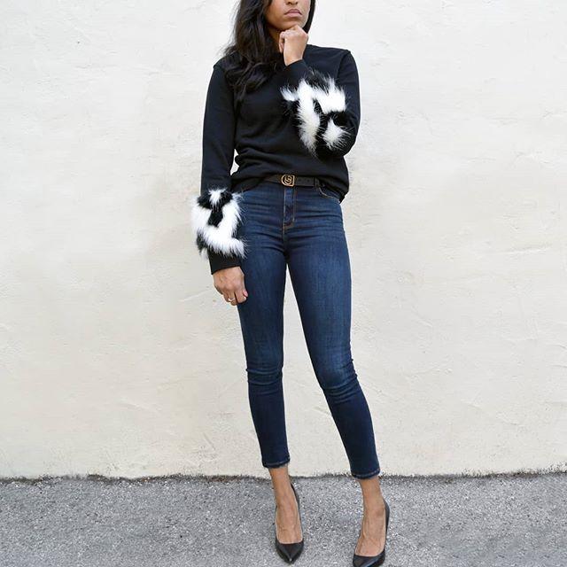 New Fur Sleeve Sweatshirt Available Now 🖤
