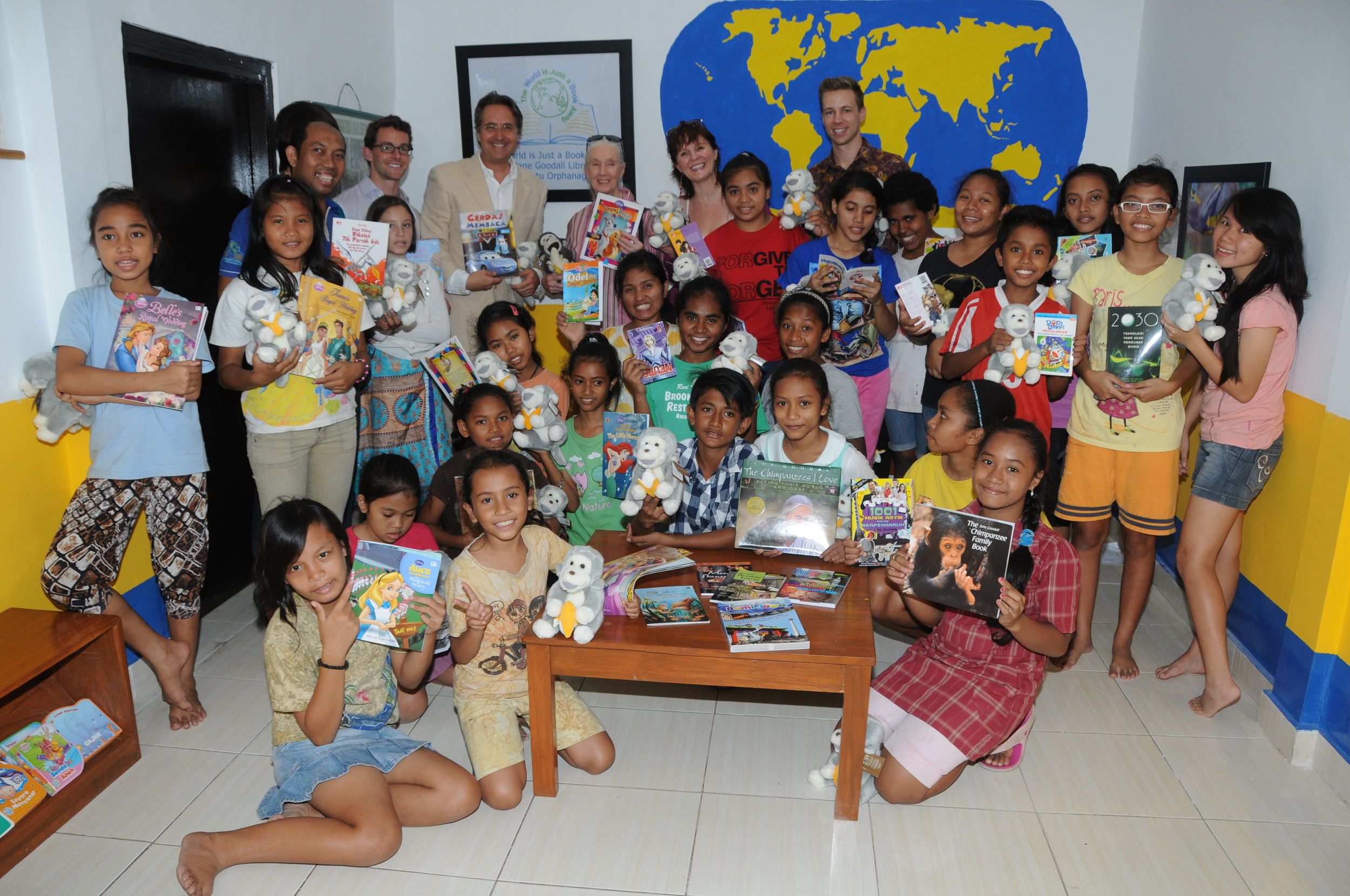 Bali orphanage library opening with Dr. Jane Goodall.JPG