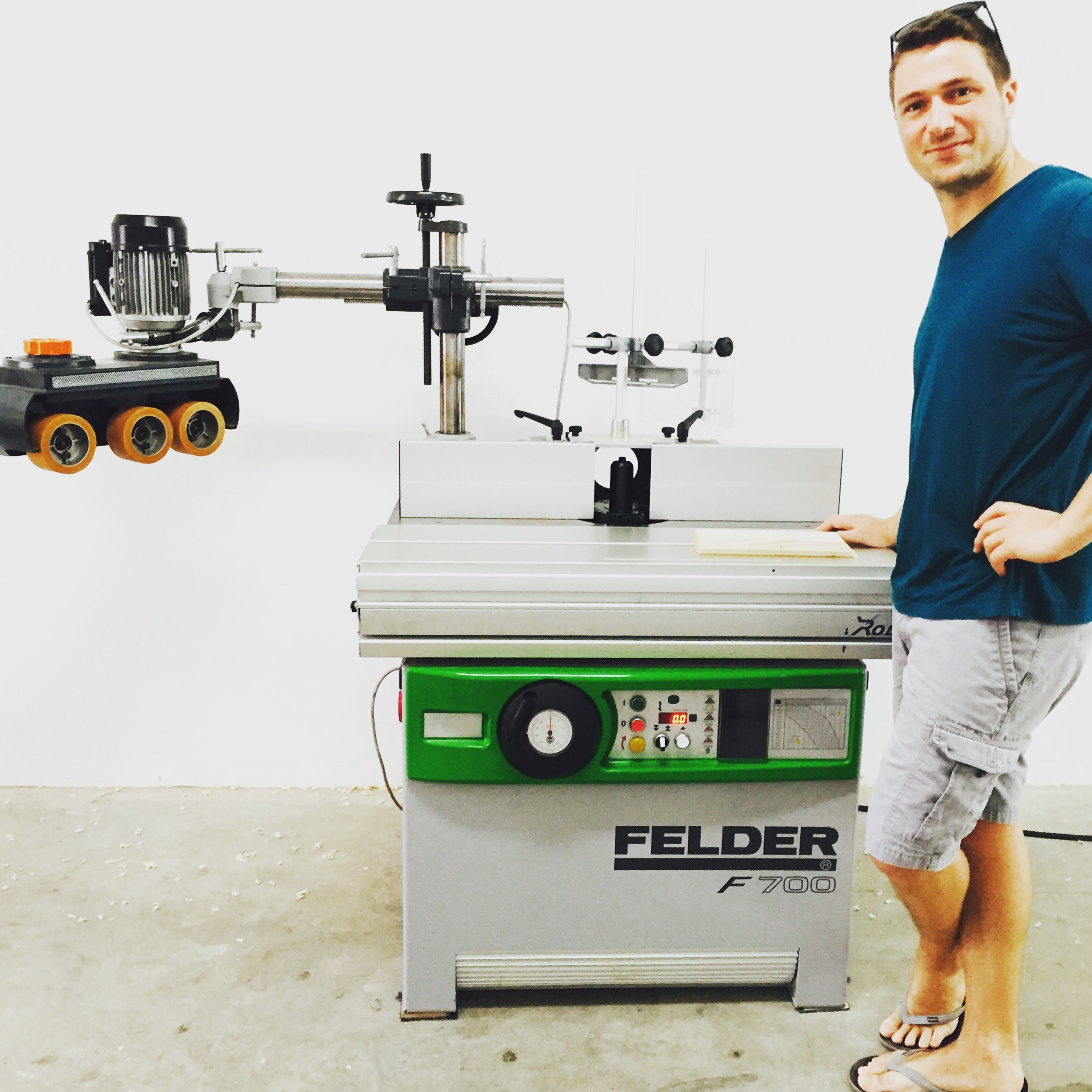 This tilted spindle moulder came all the way from Germany!