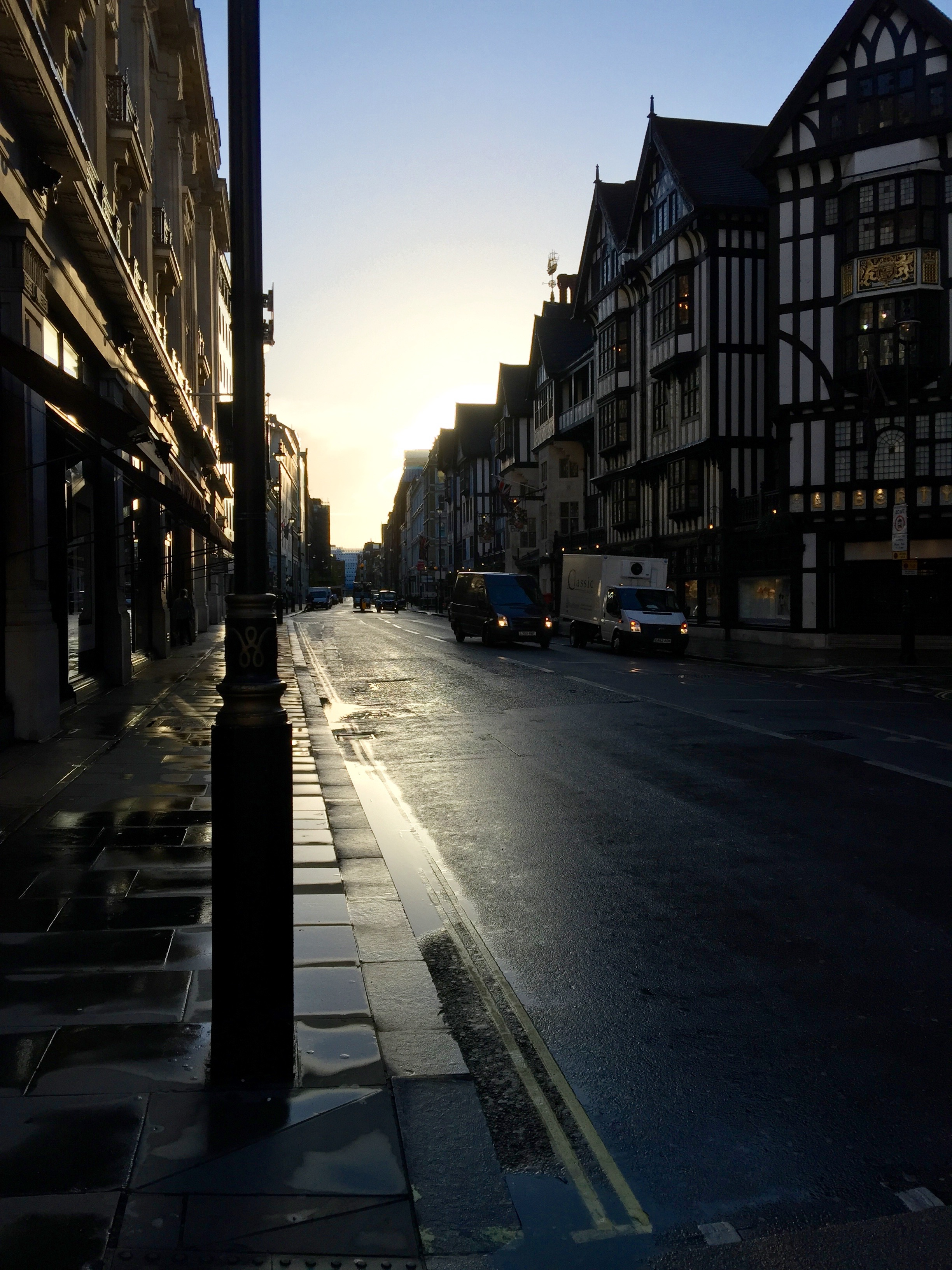 Sunrise in London