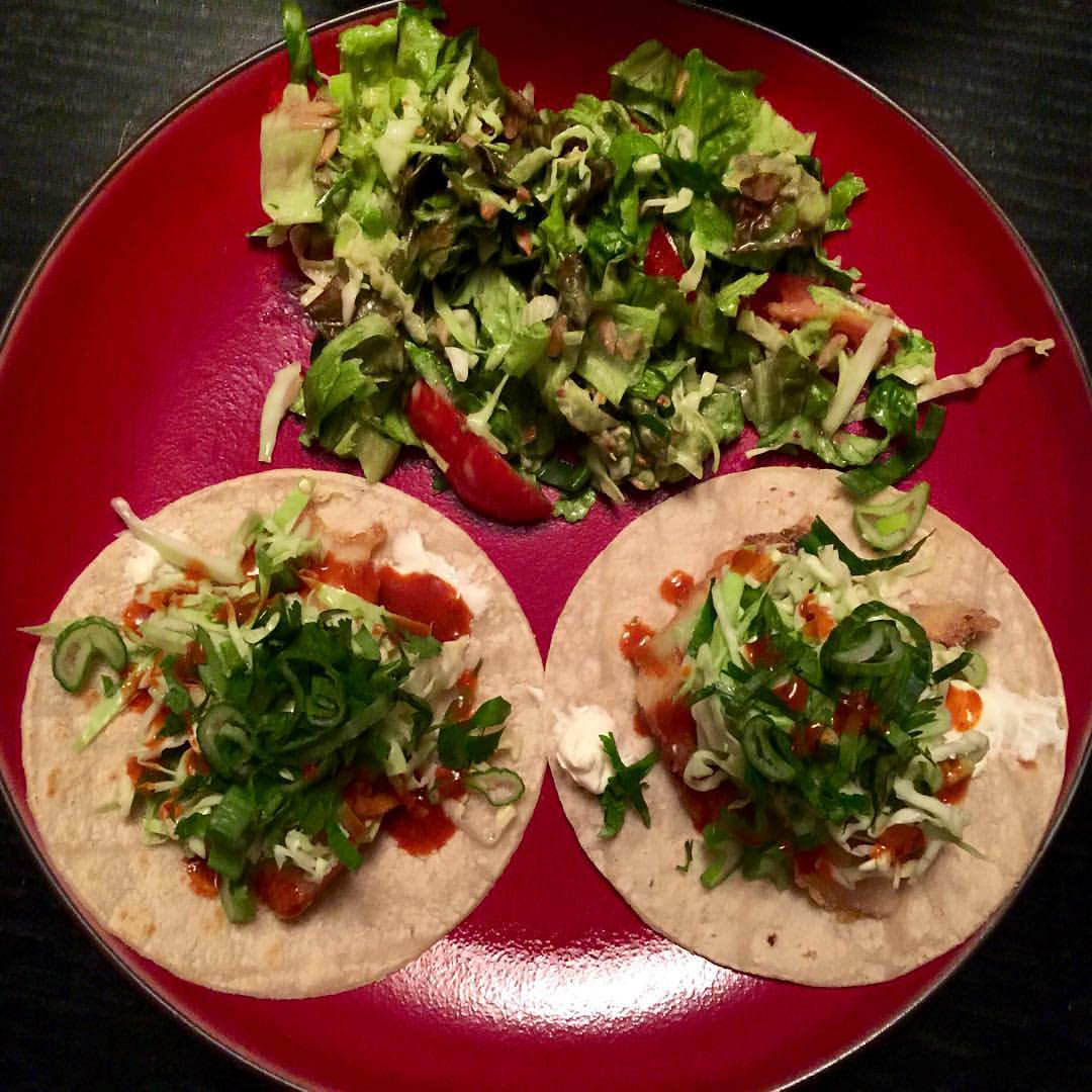 The stellar tacos that my friends made for me when I came to visit. They even caught the fish that they used! How cool! (at City of Oakland)