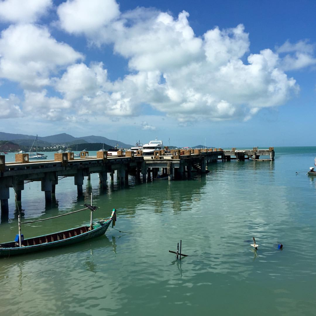 Taking the ferry from Koh Samui to Koh Phangan for the Full Moon party on Christmas! (at Ko Samui Island, Thailand.)