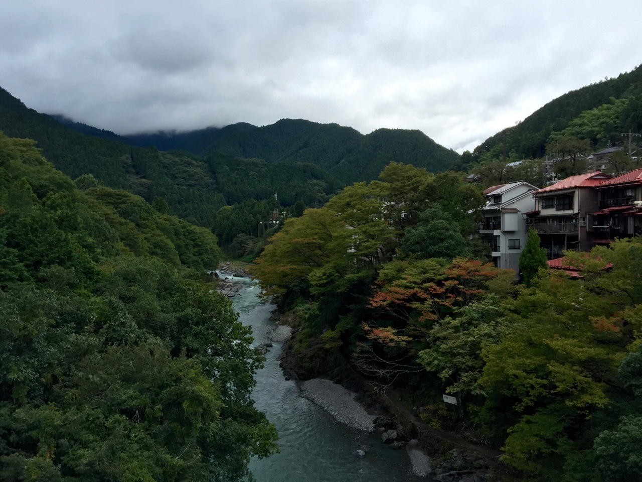 Mitake, Japan    The Japanese countryside calls to me in a way unlike any other place that I have been. This is only about an hour and a half outside of Tokyo, and is absolutely worth the visit. If you were to follow the river up into the mountains, you would reach a veritable outdoor playground.    Which is precisely where I went!