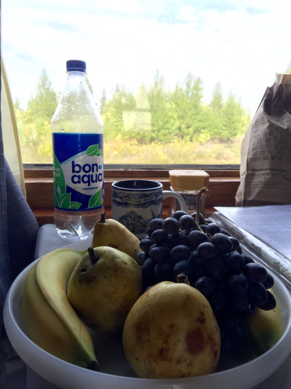Transiberian Railway - Irkutsk to Vladivostok    Finally got to use the frisbee I brought for its intended purpose: as a plate. A last minute trip to the supermarket with N meant that I ate healthily for the remainder of the trip.