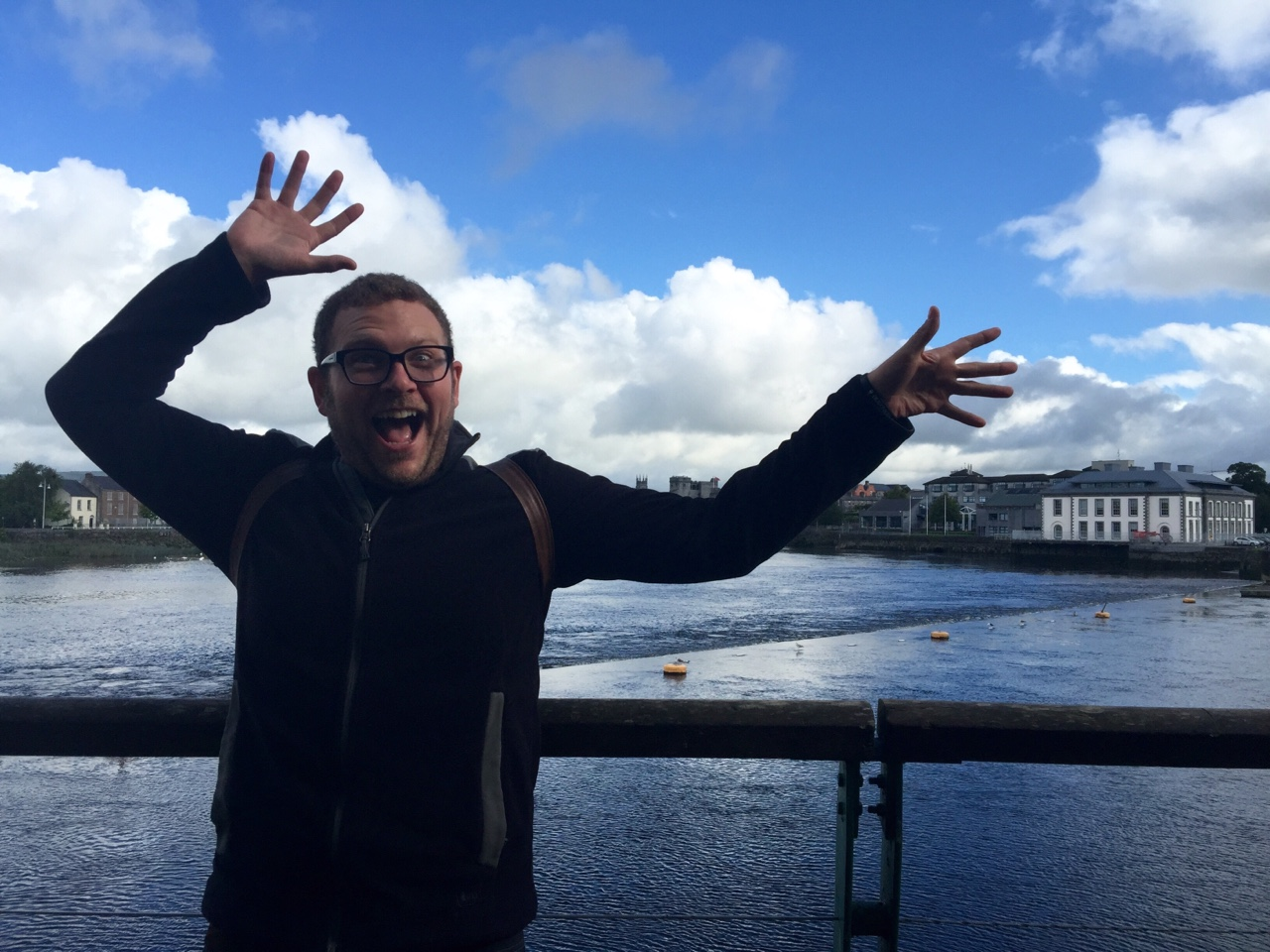 """Limerick, Ireland    Trying to """"do something weird"""" on the spot for the camera is really hard. When in doubt, wave your hands around like a crazy person, and consider it a job well done 😝"""