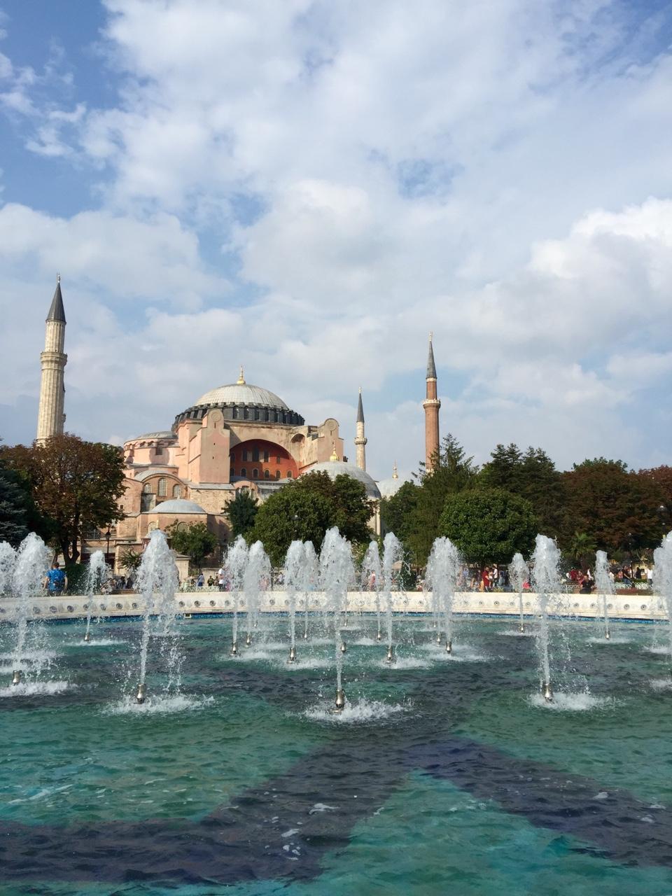 Hagia Sophia (from Sultanahmet Square) - Istanbul, Turkey