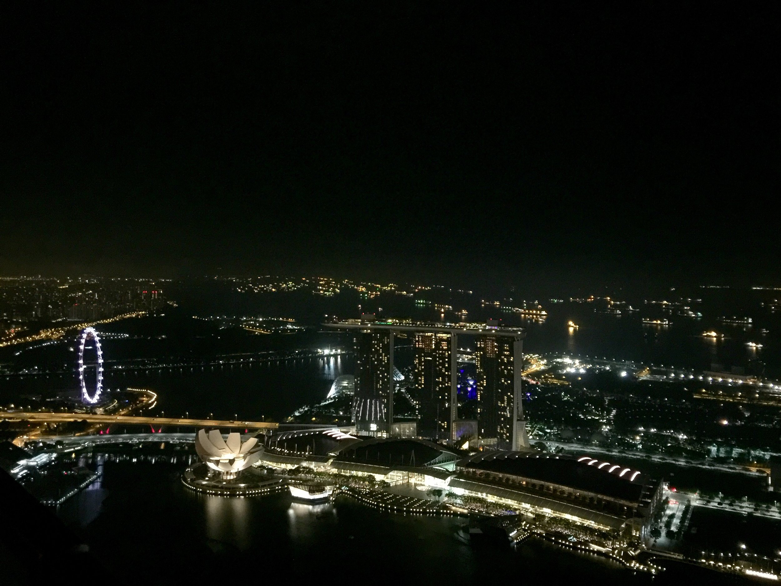 """1-Altitude   1-Altitude is a bit on the pricey side, but provides what is easily the best view in the city. It's so high up that the Singapore Flyer (seen to the left) seems tiny in comparison! If you like bars, and feel like being part of the """"high"""" life, this shouldn't be missed."""
