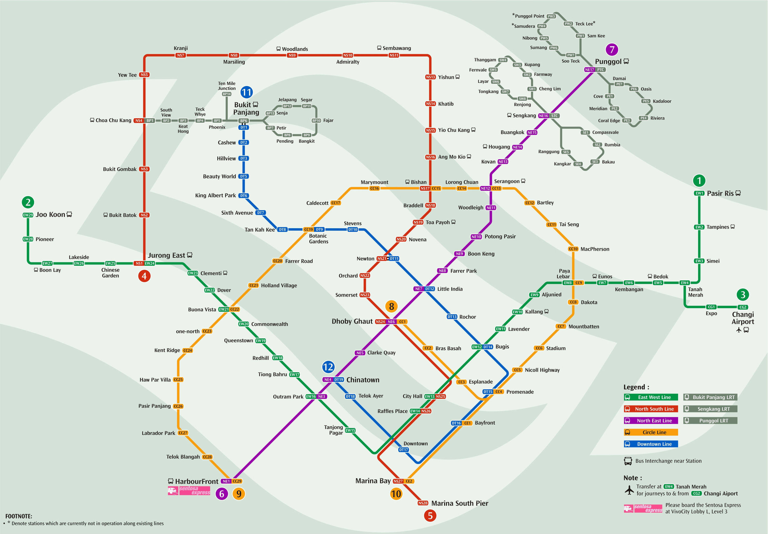Note: MRT Station Map is up-to-date as of October 2016. Please click on the map to open a new window for the official interactive map of the services.
