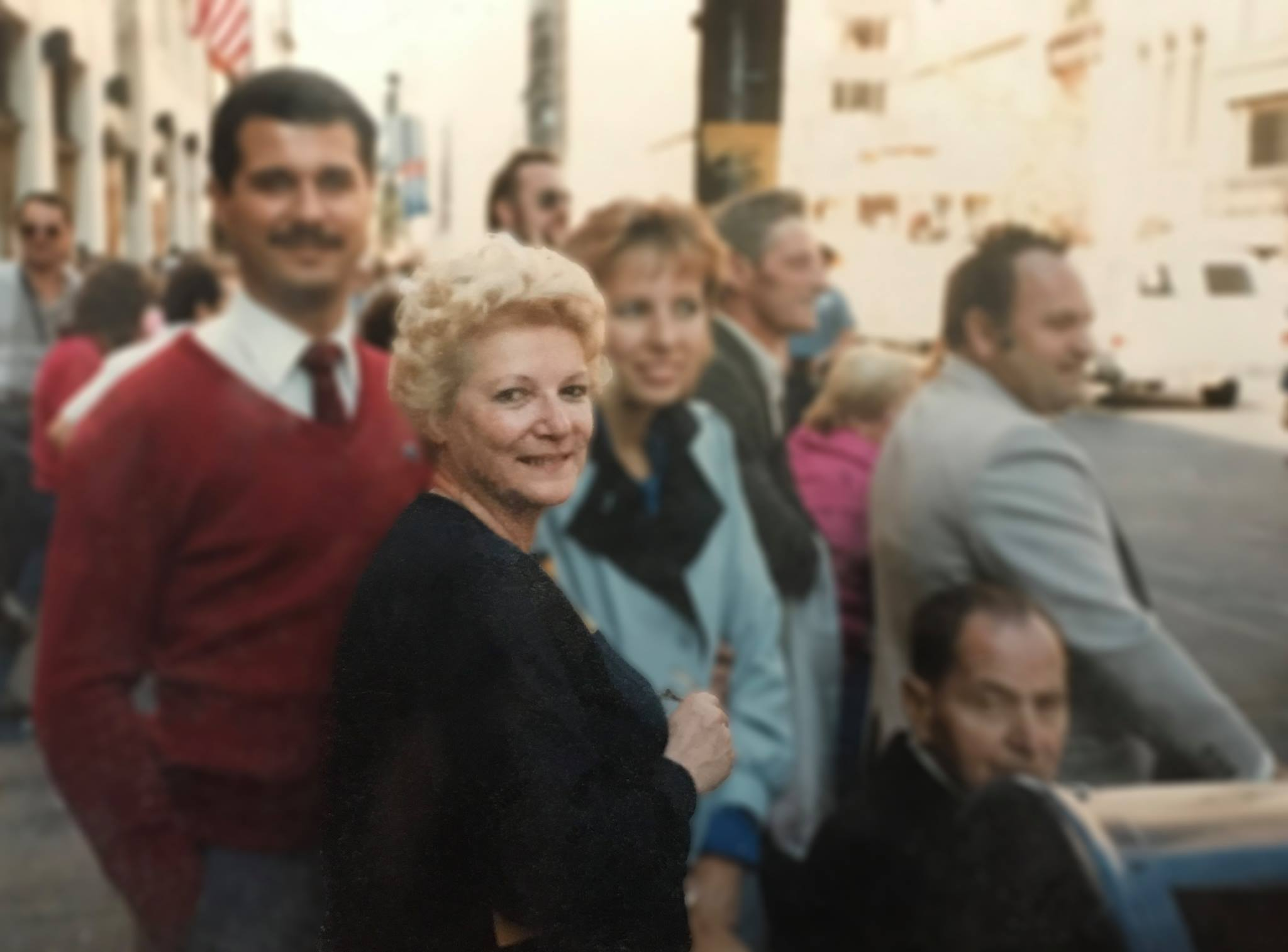 Founder Ellen and Debbie in downtown Manhattan for Bridal market in the 80's