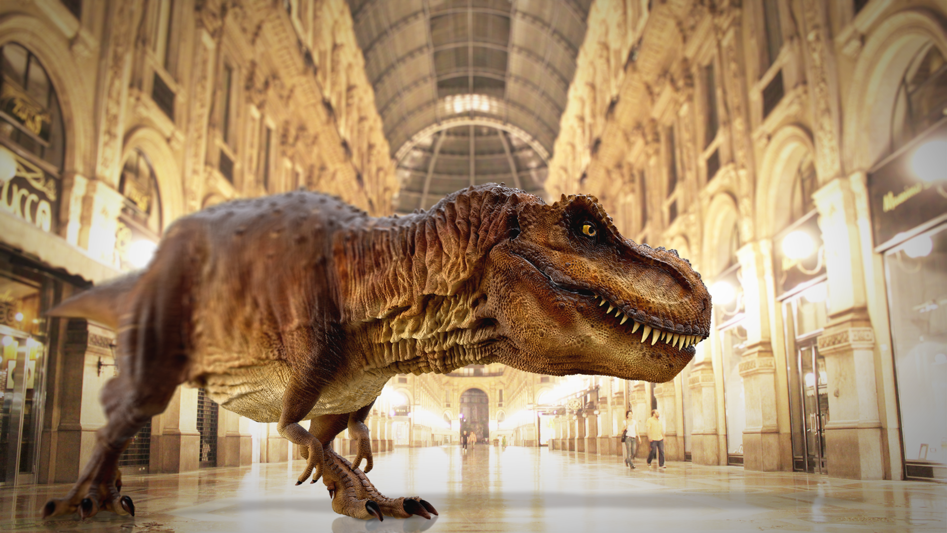 The T-Rex from INDE's Back to the Jurassic AR experience available for licensing