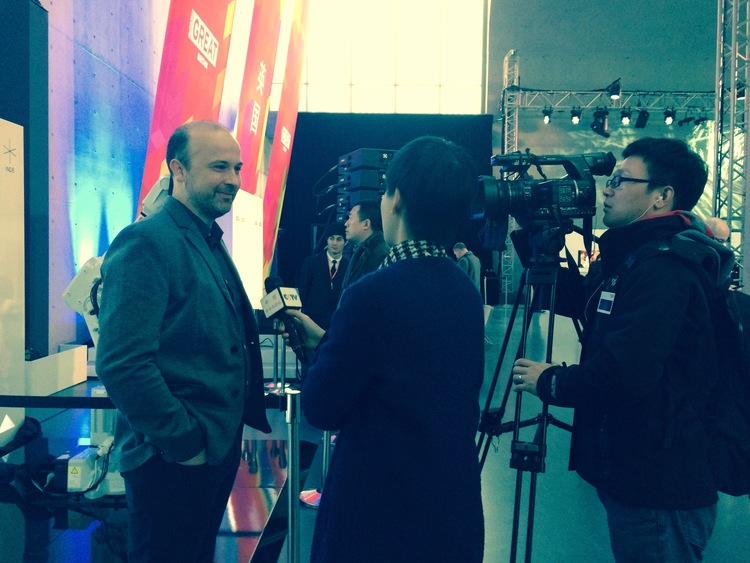 CTO interviewed by CCTV, China at GREAT Festival, Shanghai.