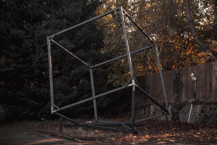 """The """"test"""" cube in our backyard in Budapest"""