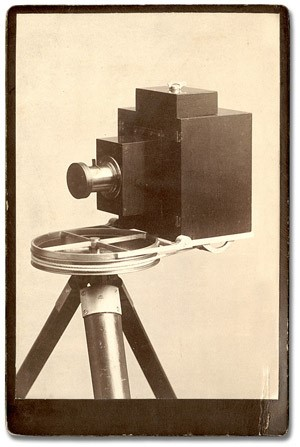 Via archives.gov.on.ca - John Connon's whole circuit panoramic camera was the first camera to record 360 degrees of the horizon on a long roll of film. Patented in Britain and the United States in 1887, and in Canada in 1888.
