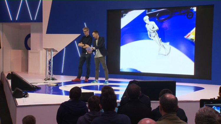 Statue of David in Augmented Reality - live demonstration of INDE's MobileAR experiences for education at the Gadget Show Live in Birmingham (March 31 - April 3, 2016).