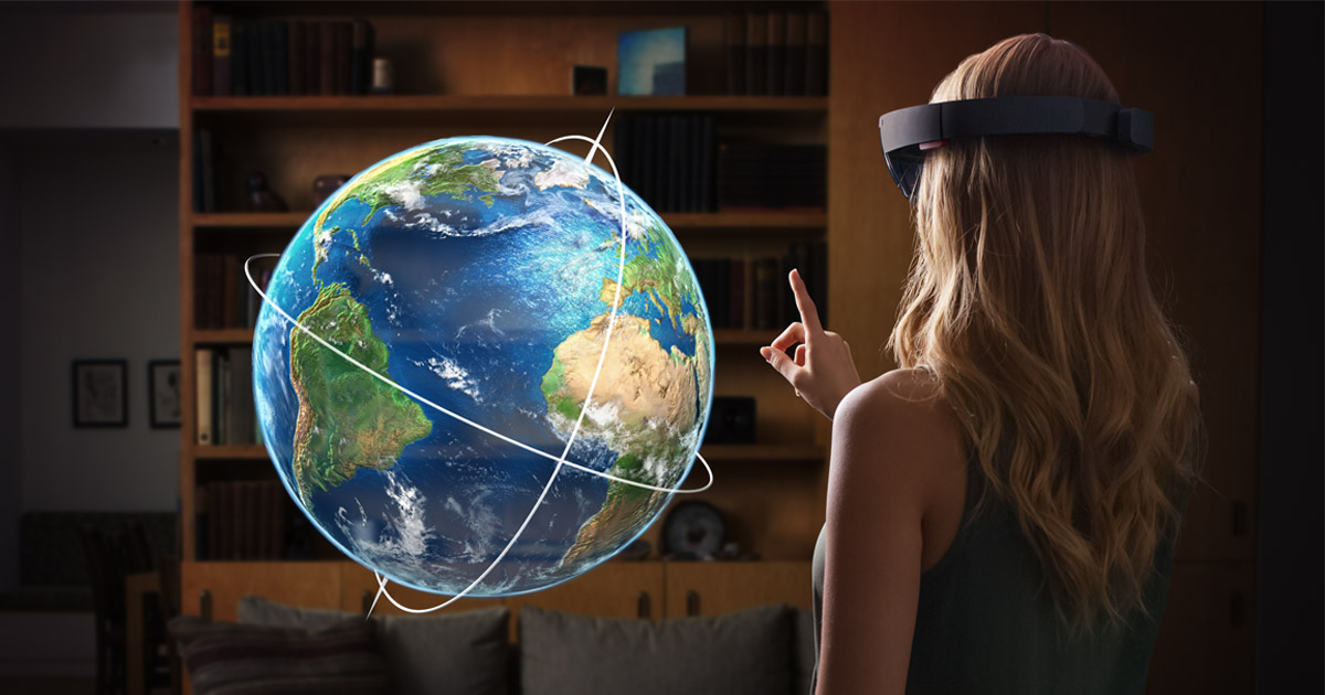 Microsoft  HoloLens lets users i nteract with virtual holograms and real objects in their physical world.