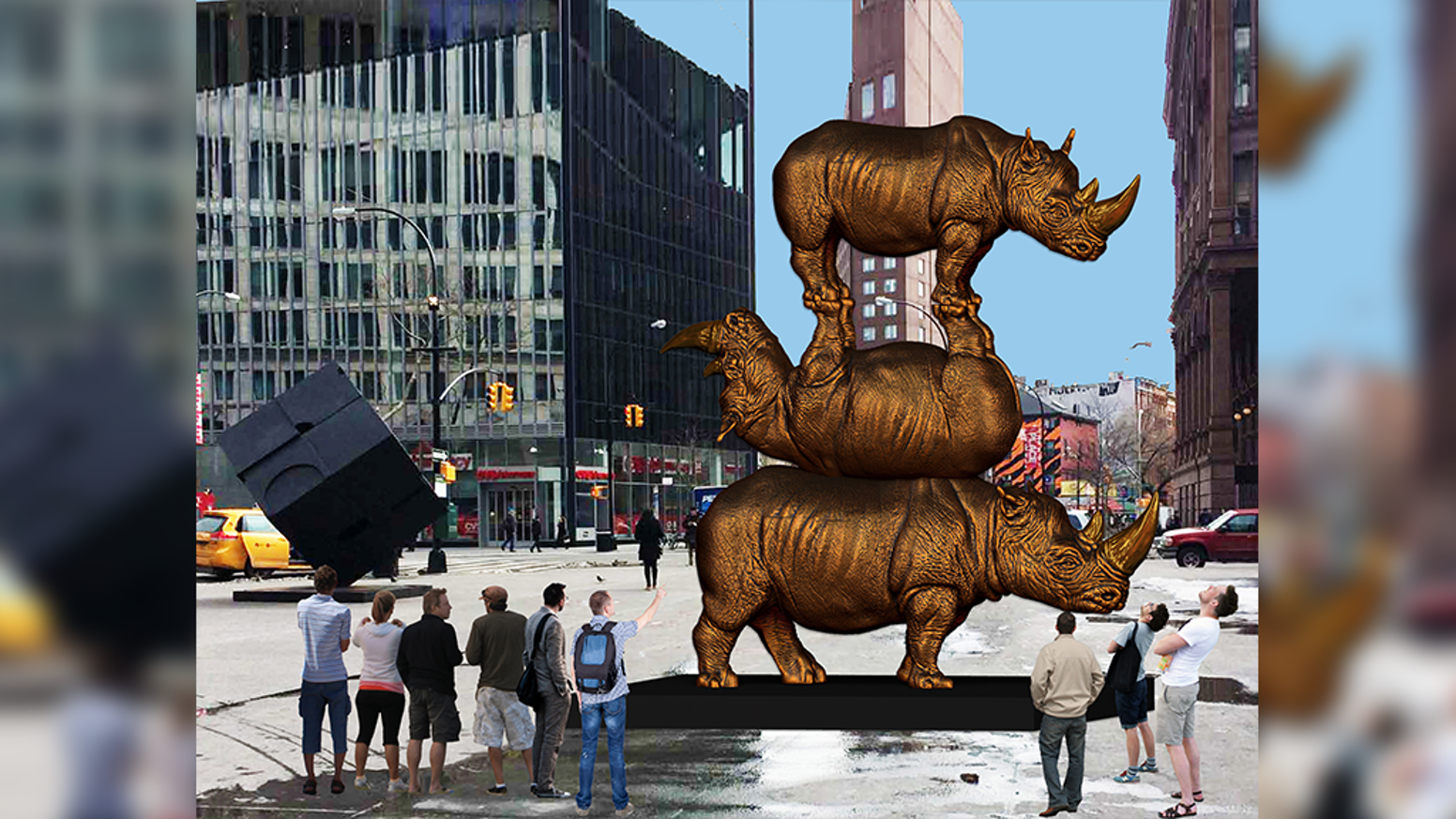 The world's biggest rhino sculpture to be installed in New York City