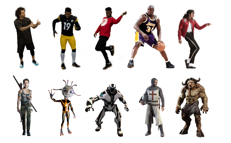Sample Augmented Reality characters for our BroadcastAR Interactive experience