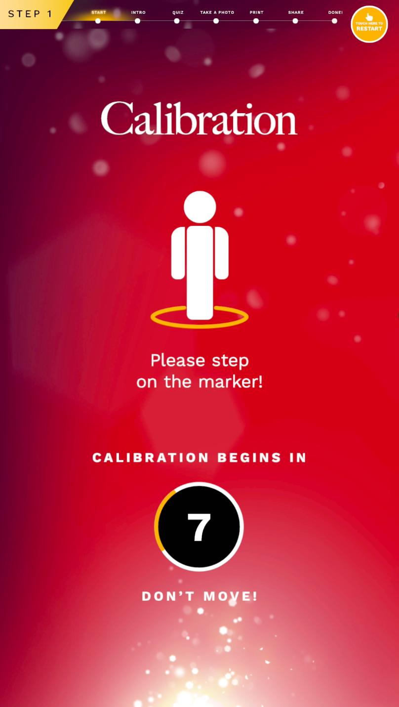 2nd step:   Calibartion