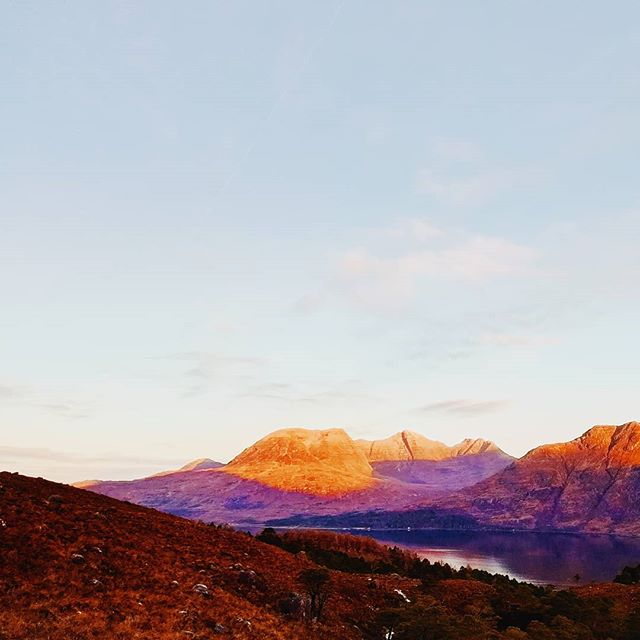 6.30 up a hill in Torridon. Only slipped over ten times  #vscocam #landscape #scotland #mountains #highlands #torridon