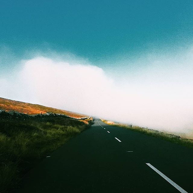 Another shift back in the Isle of Man done! ° Somewhere in the South, Isle of Man  #vscocam #landscape #vscoedit #isleofman #island #road #fog #mist