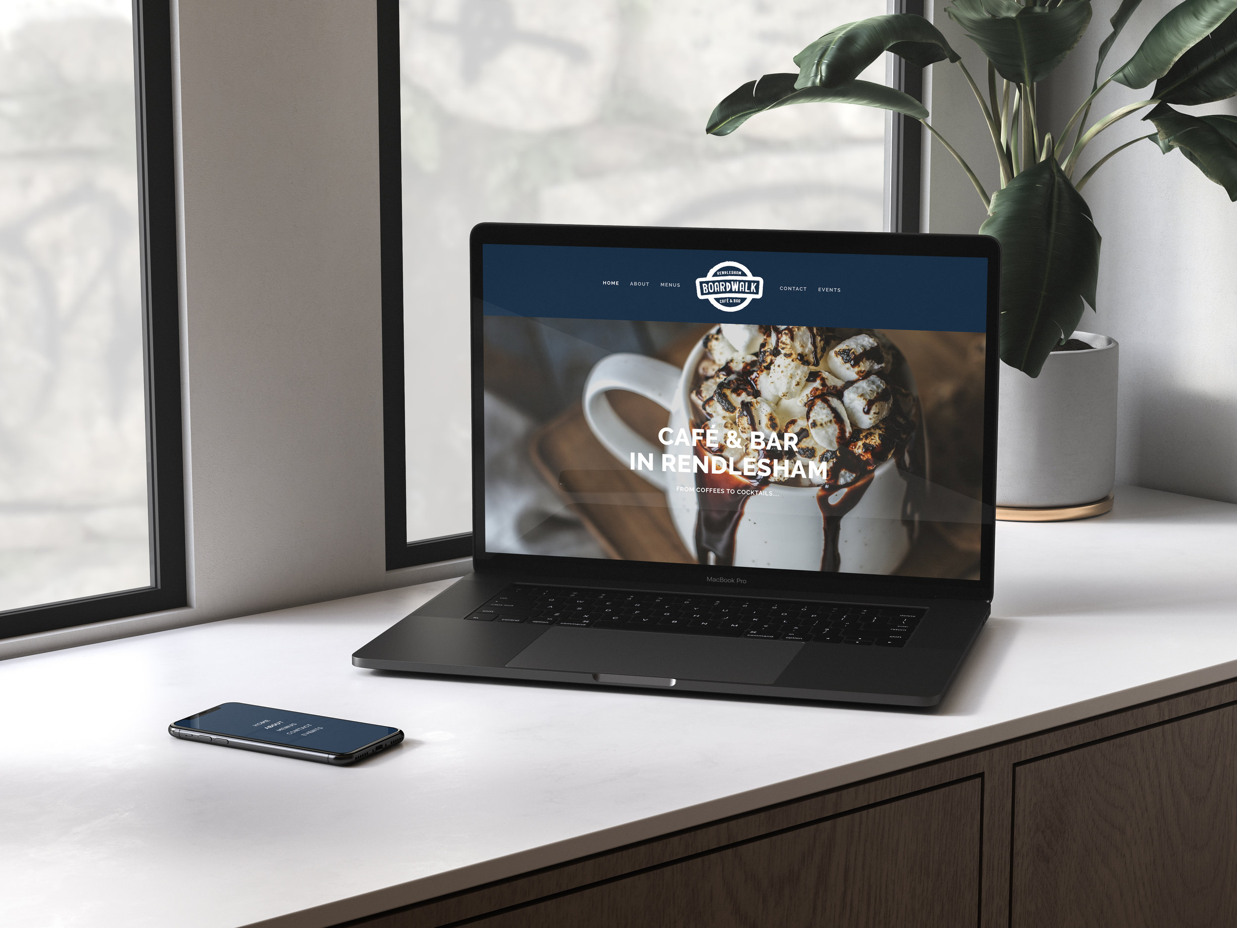 New Website - Bespoke design and development with minimal content but sleek design.