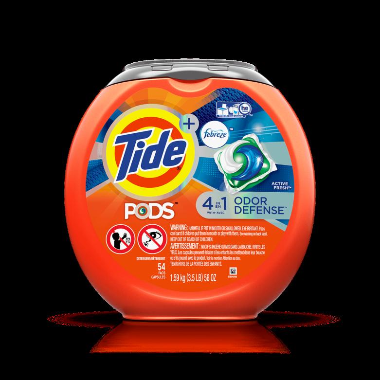 Tide PODS Plus Febreze Odor Defense