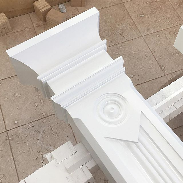 We are loving the details on these Victorian posts we are working on #woodworking #millwork #architecture #finewoodworking #finehomebuilding #boston #victorianhouse #millworkdesign