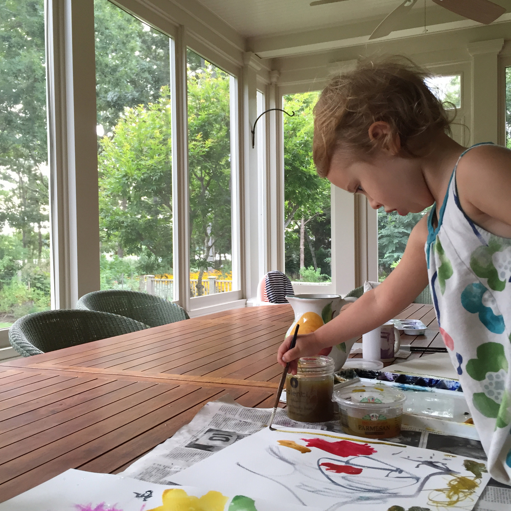 Watercolor Painting with Kids