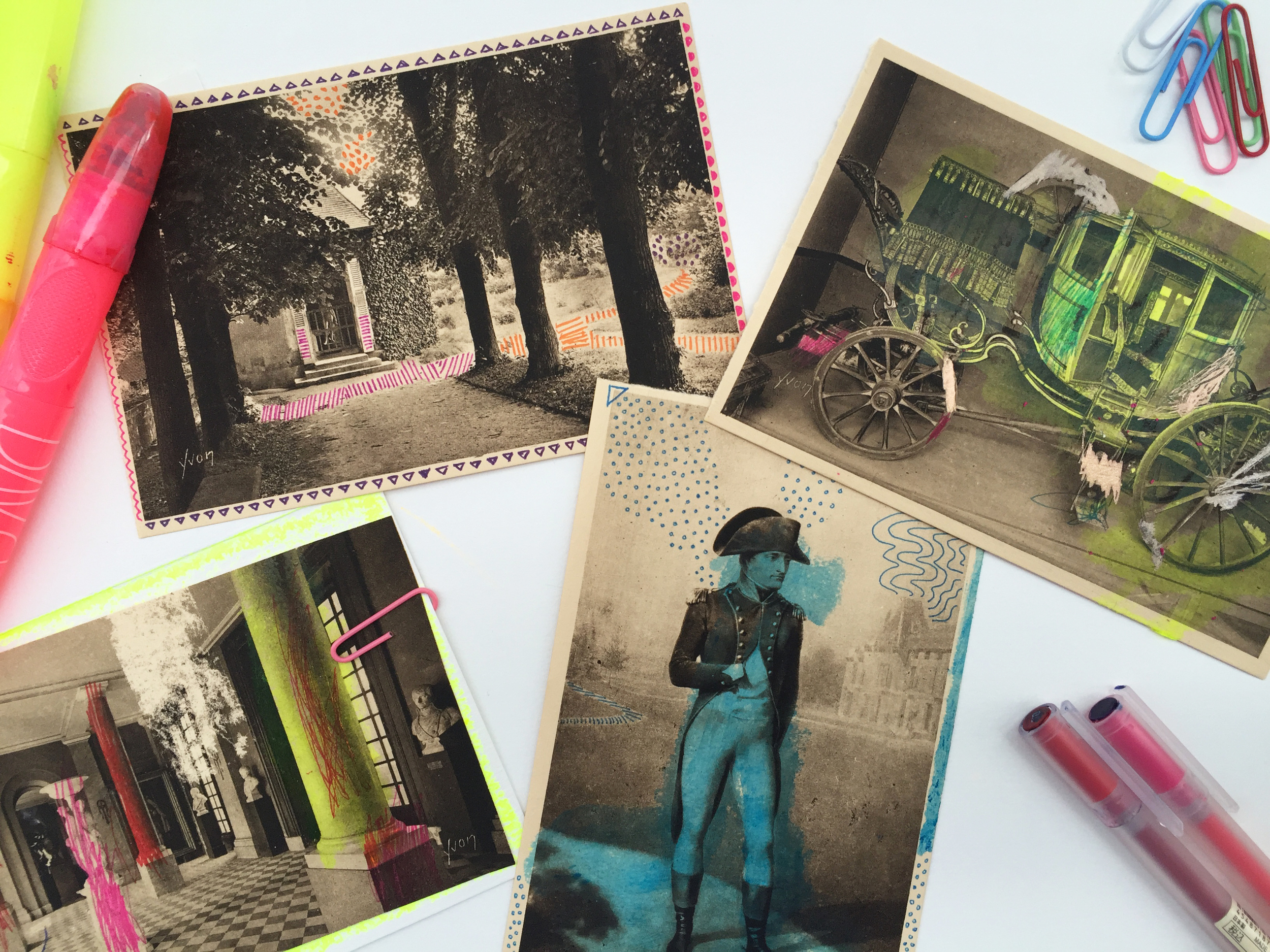 Crafting in the Archives with Vintage Postcards by Rebecca Pitts