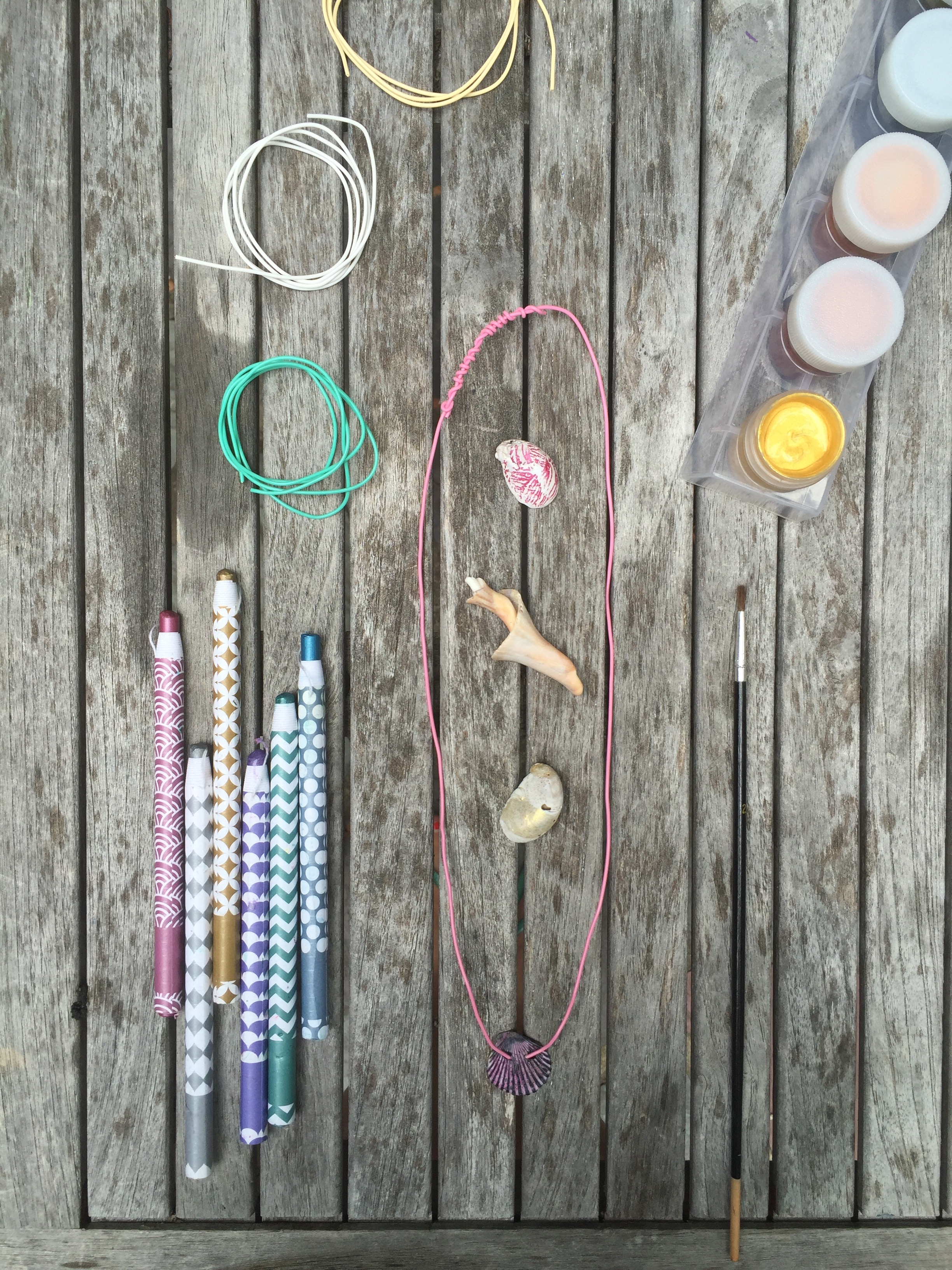 DIY Seashell Necklaces by Rebecca Pitts