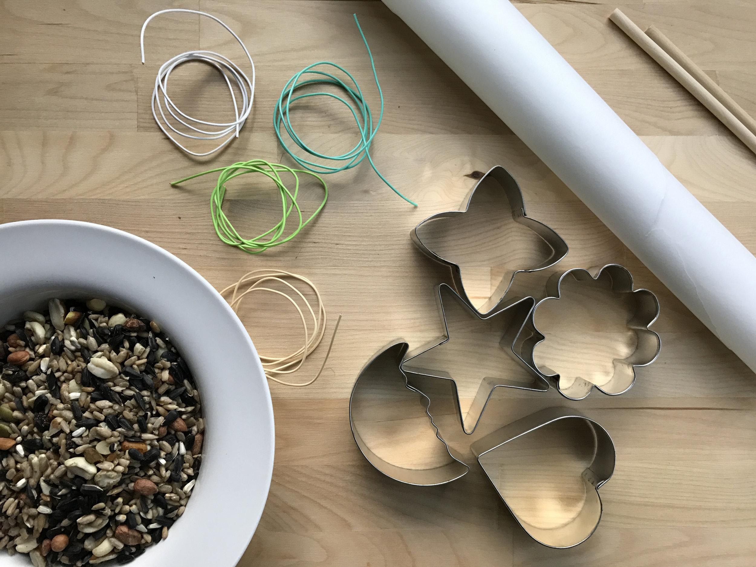 How to make DIY Bird Seed Ornaments - ingredients.jpg