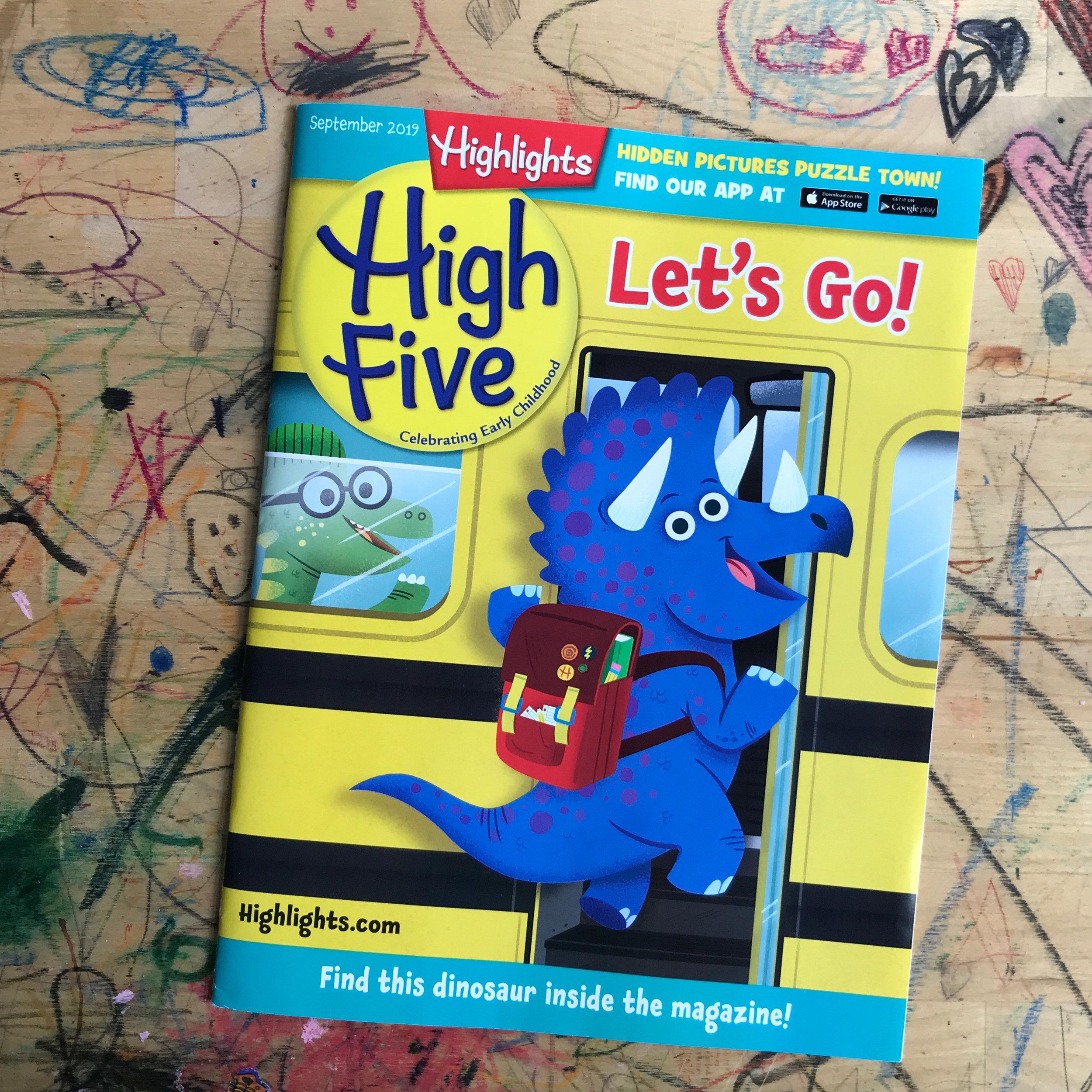 Rebecca Pitts Highlights High Five Magazine