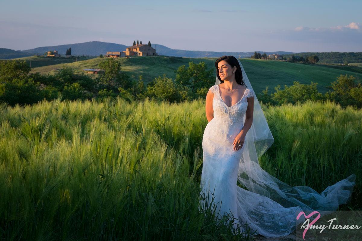 Tuscany Wedding - Bride