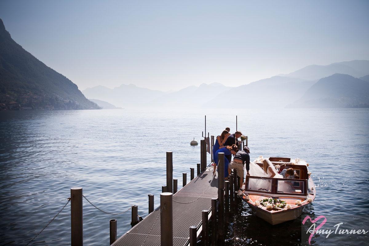 Lake Como wedding - Bride