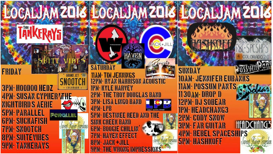 The three days of Local Jam, 7/8-7/10