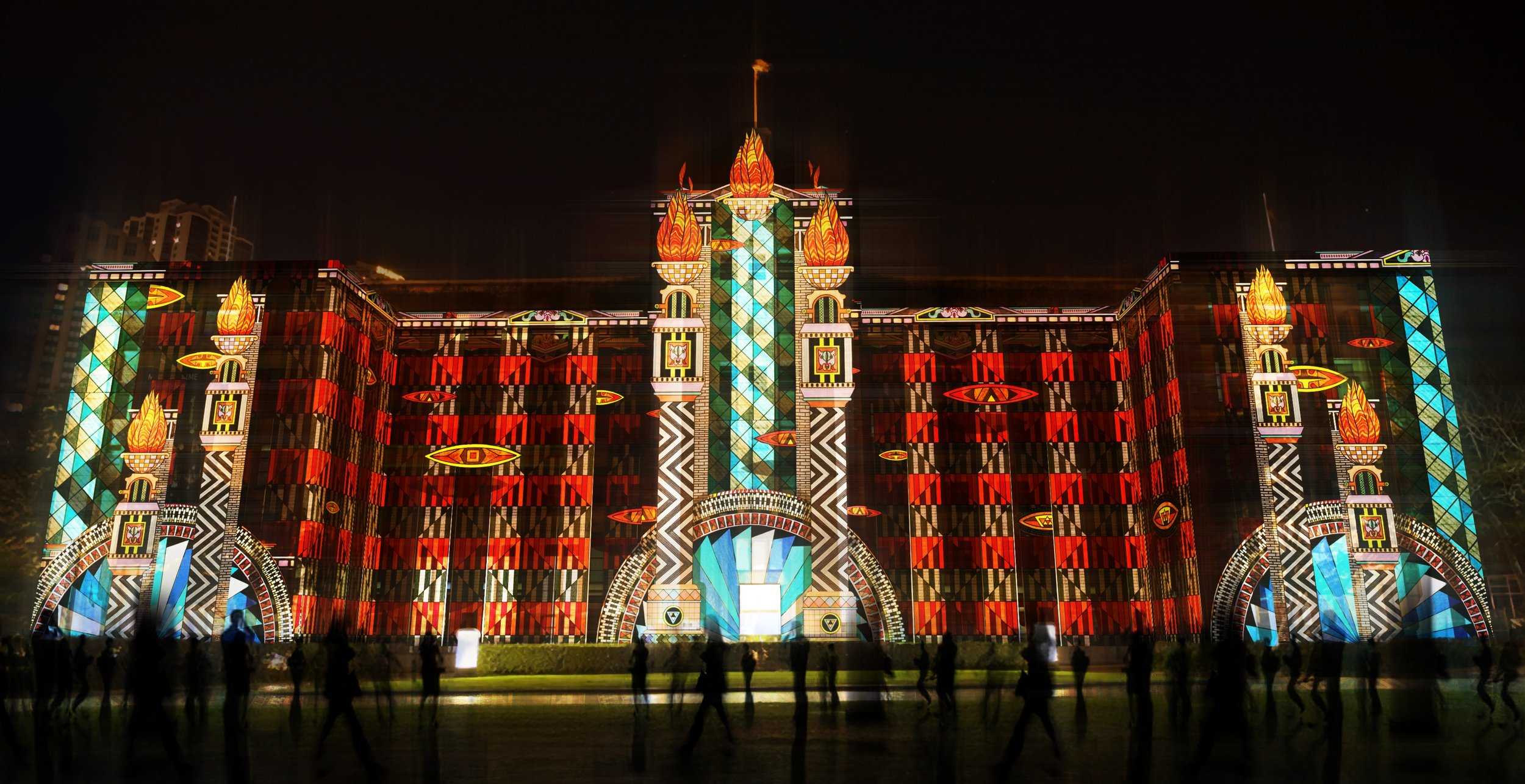 Gamma World (projection mapping video), 2014