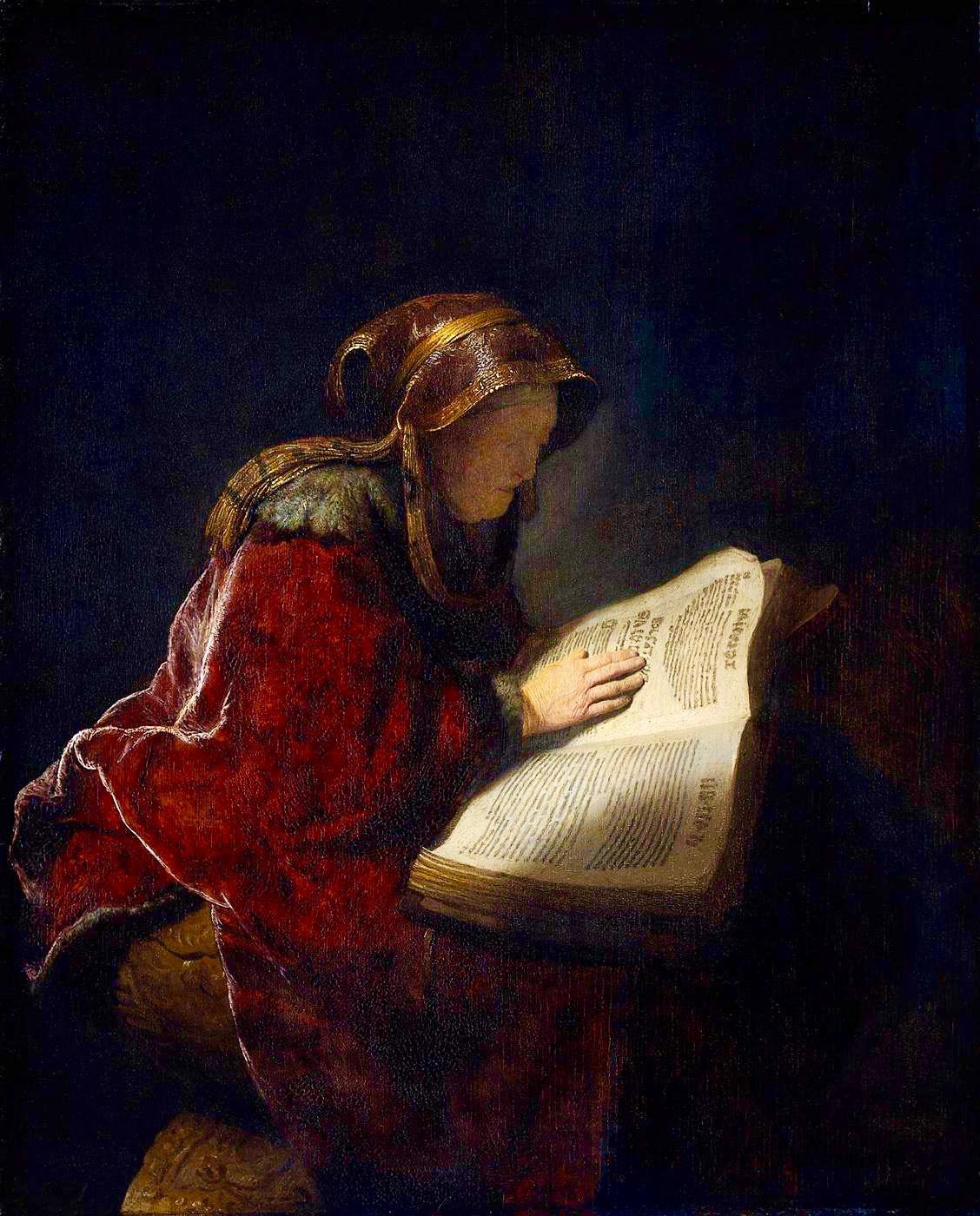 The Prophetess Anna by Rembrandt Harmensz. van Rijn