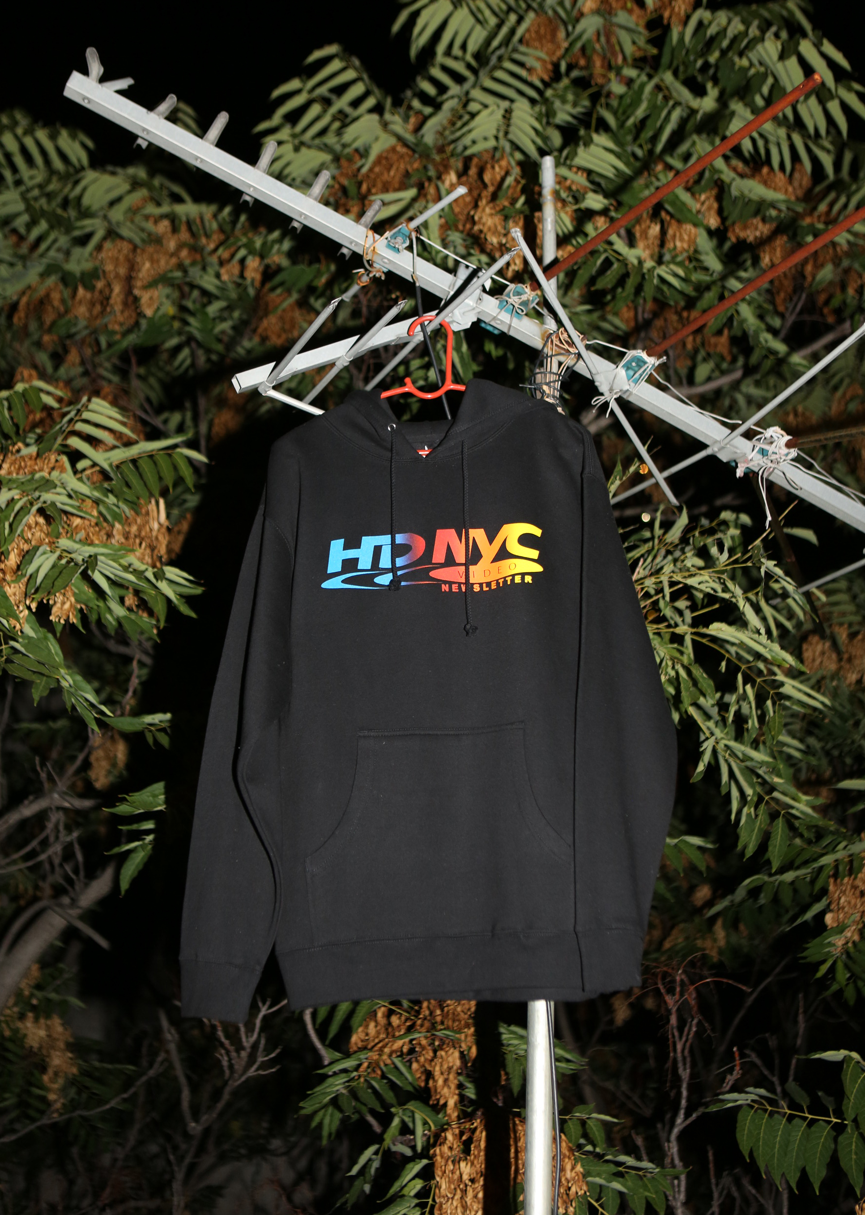 hd nyc video newsletter black hoodie