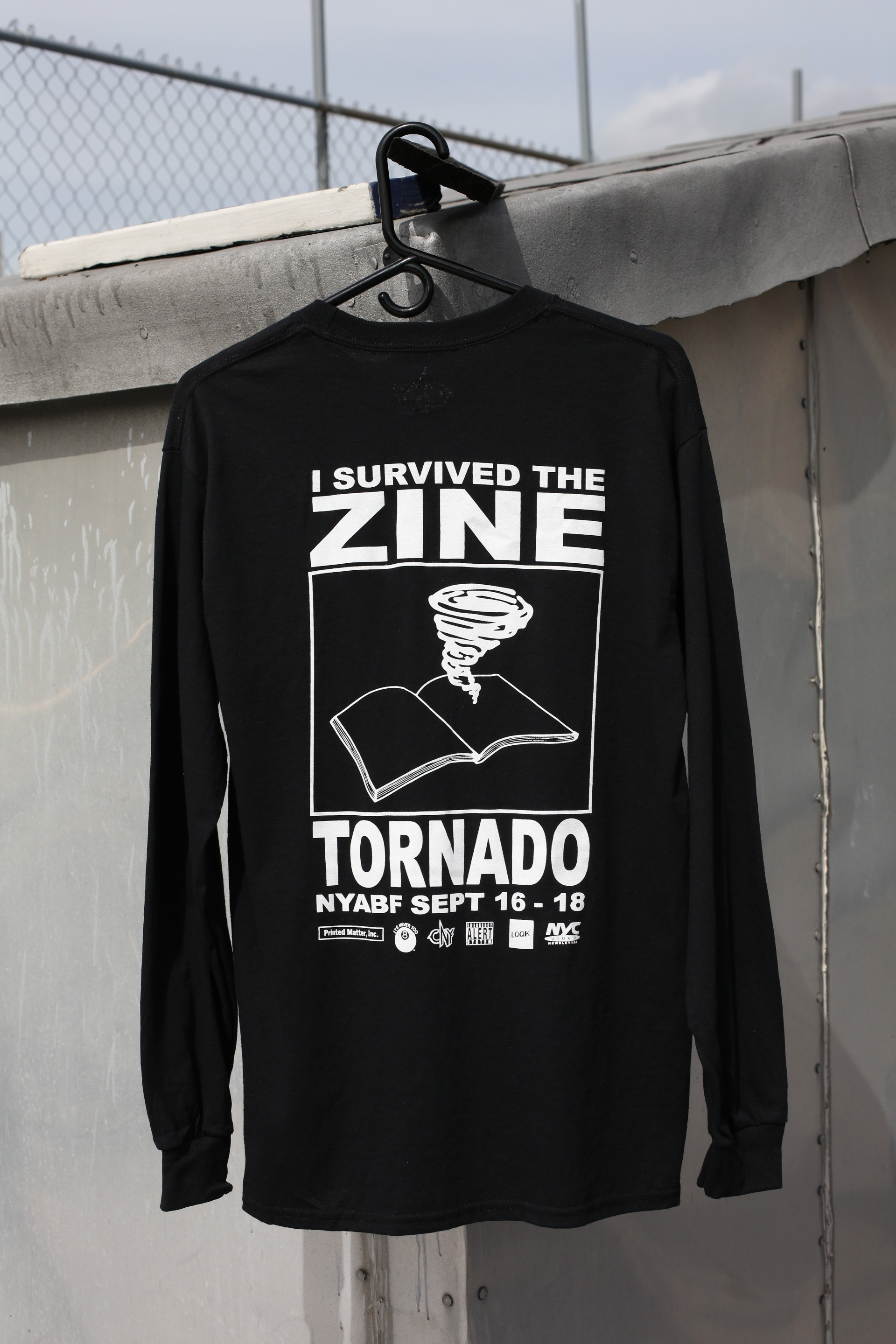 I SURVIVED THE ZINE TORNADO LONG T  ----- EXCLUSIVELY MADE FOR THE NY ART BOOK FAIR @ MoMa ps1 2016