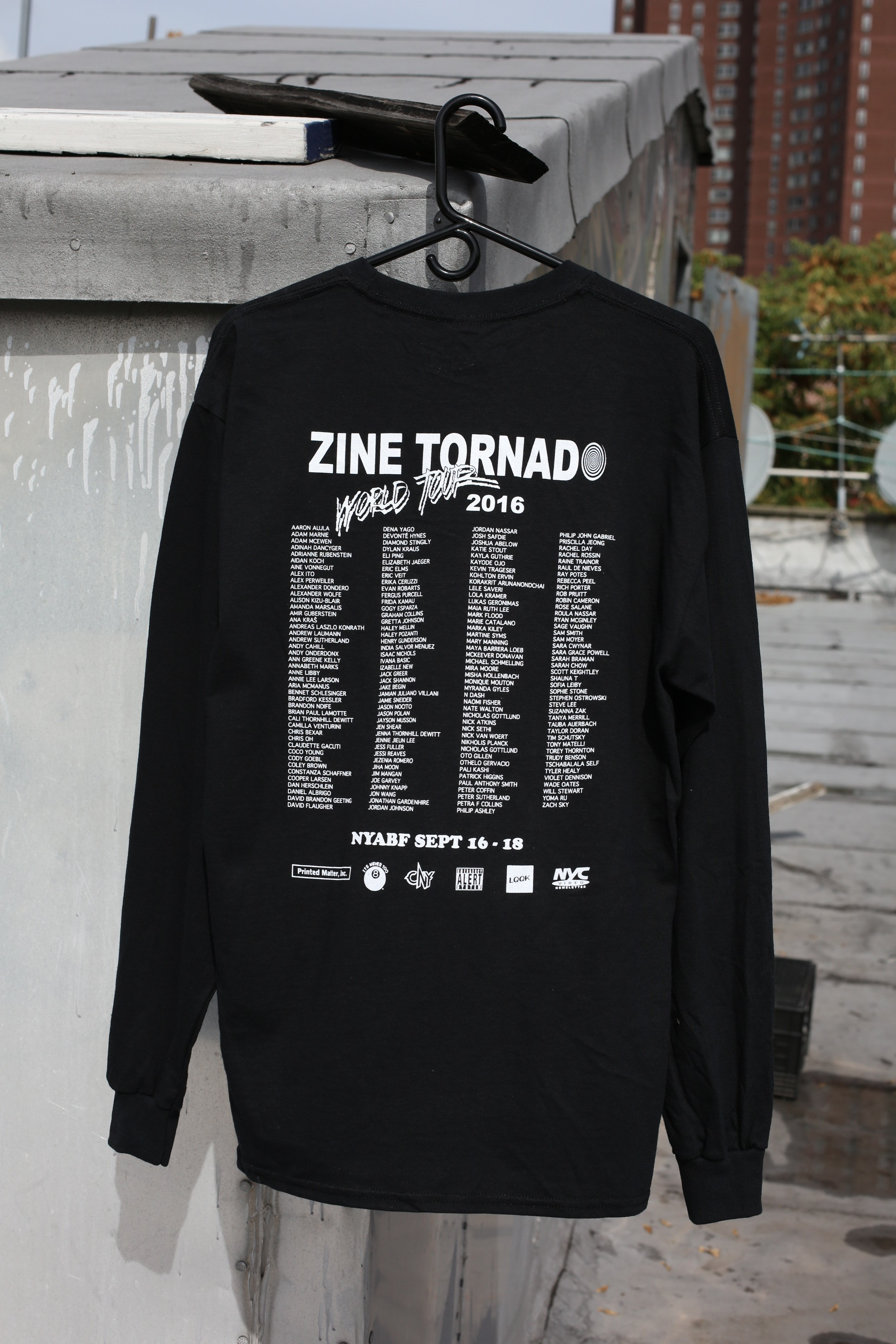 zine tornado world tour long t  ------- made exclusively for the ny art book fair @ moma ps1 2016