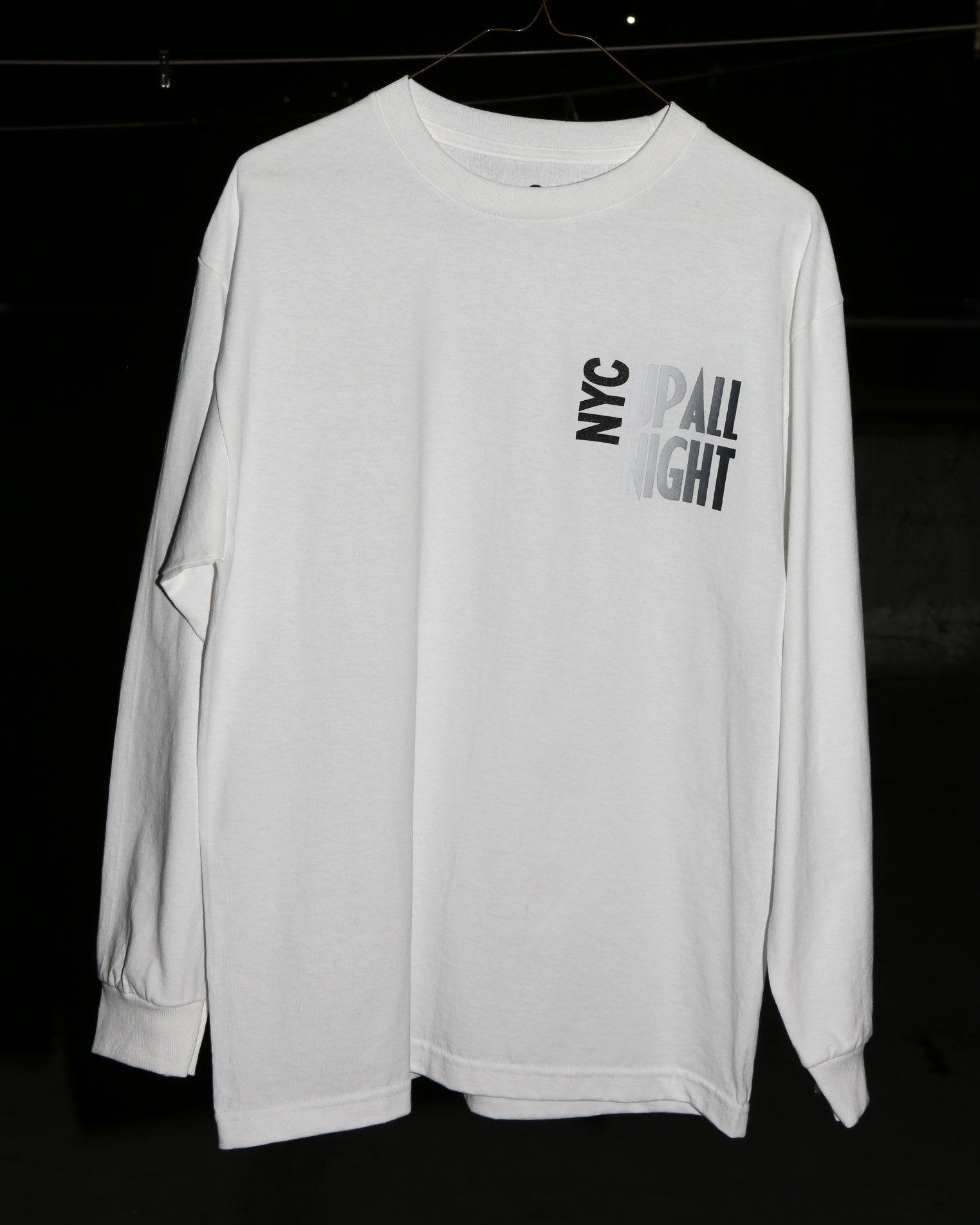 ----- NYC UP ALL NIGHT LONGSLEEVE T -----