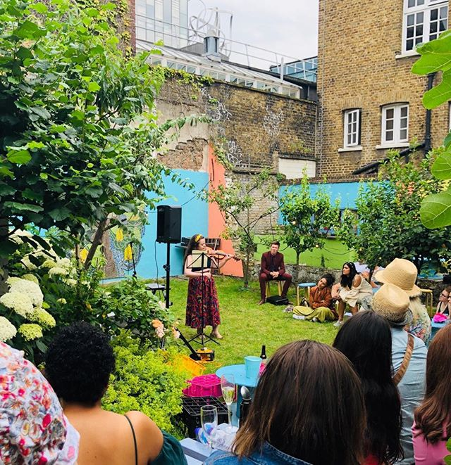 A Midsummer Nights Dream right here in our back garden! Fundraising for the Edinburgh Fringe Festival. Congratulations on such lovely music poetry and drama.. always happy to host❤️ #cafe#coffee#newcross #newcrossgate#garden#cocktail#summerparty#festival #fundraiser#drama#poetry #musicevent