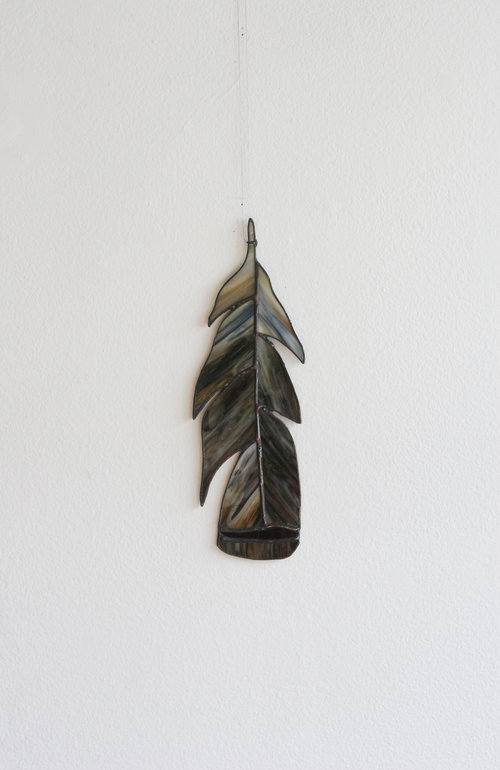 Glass Turkey Feather $92