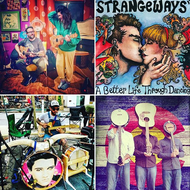 We are stoked to tell you about our music lineup tomorrow at Pop Up Ave! STRANGEWAYS will be spinning vinyl favorites early afternoon. The husband and wife acoustic duo Anchor & Arrow will get things strumming at 3pm followed by one-man-rockabilly-band The Psychic Beat at 4pm and ending with the rockin' bluesy bluegrass of The Feats of Strength. 🎵🎸🎤🤘#PopUpAve